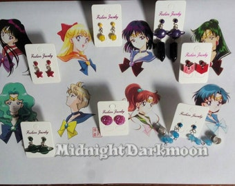 Sailor Moon Scouts inspired earrings