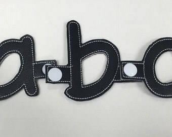 SNAP Together Alphabet Lowercase Letters - Flashcards - Toys - In The Hoop -  - 26 DIGITAL Embroidery Design INCLUDED