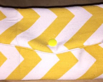 Yellow Chevron Trifold Wallet