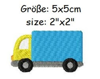 Embroidery Design Truck 2'x2' - DIGITAL DOWNLOAD PRODUCT