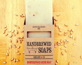 Beer Soap- Spiced Ale Homebrewed Beer Soap- Father's Day, Gifts for Him, Bachlor Party, Stocking Stuffer