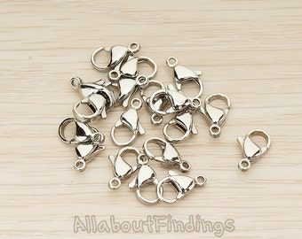 BSC276-02 // Surgical Stainless Steel Hypoallergenic  Large Lobster Clasp, 6 Pc