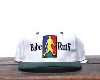 Vintage 90's Babe Ruth Baseball Trucker Hat Snapback Baseball Cap