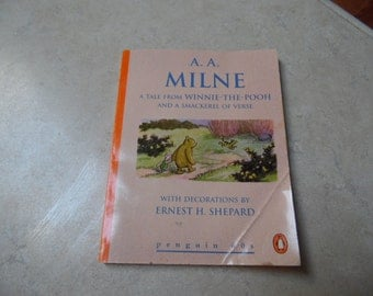 A Tale of Winnie the Pooh & A  Mackeral of Verse Mini book, Copyright 1924, this version copyright 1953, AA Milne