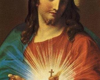 "8 x 10""  canvas art print~ Batoni-The sacred heart of Jesus, 1767."