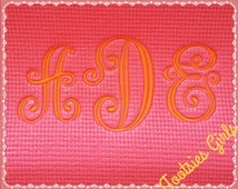Yoga Mat Monogrammed with Your Initials! Great Christmas Gift for Yogis! Pilates, Pi-Yo, Gym, Fitness, Exercise, Healthy Living!