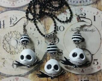 Jack Skellington Necklace Set, Free Shipping