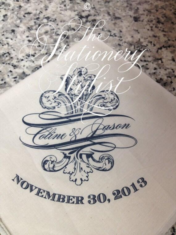 New Orleans Fleur de Lis Second Line Handkerchief - White