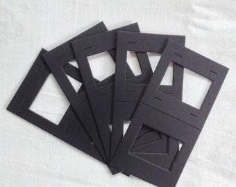 5 Self Adhesive Slide Mounts - Smash Book - Junk Journal - Collage - Cards - Scrapbooks