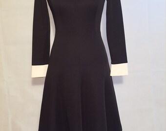 Leslie Fay peter pan collar dress