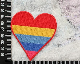 Colorful Hearts Iron on Patches LOVE Applique CD174