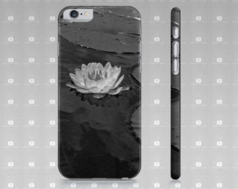Waterlily iPhone 6 Case, Black And White Water Lily Photo iPhone 6 Case For iPhone 6 and iPhone 6s, Slim Protective Case Custom Printed