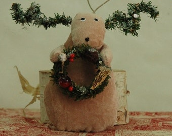 Folk Art Reindeer (V-REINDEER-WREATH/STAR)