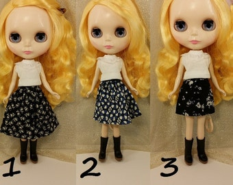 Blythe Skirt, Blythe Dress, Black Skirt