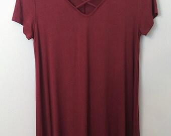 Comfy burgundy Dress