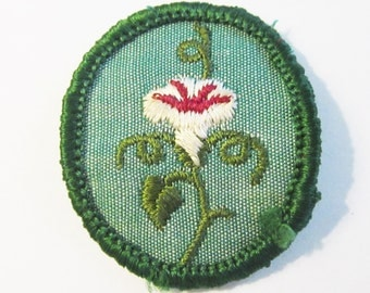 """Vintage Girl Scout Troop Crest """"Morning Glory"""" circa 1960's"""