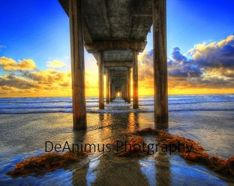 Sunset Pier. La Jolla,Ca