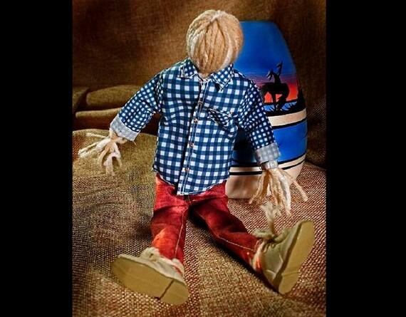 Art Doll, Folk Art Doll, Yarn Doll, Hiker, Stress Reliever, Toy Doll