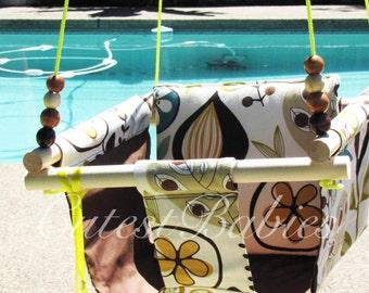 Baby Fabric Swing w/Pilow. Indoor/Outdoor Baby/Todler Swing.