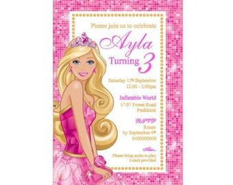 Barbie Birthday Invitation - PRINTABLE PDF FILE - Barbie Party