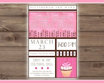Relief Society Birthday Invitation, Printable, CUSTOMIZED, 4x6