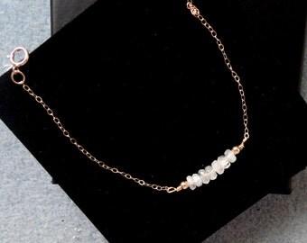 Gold fill moonstone bracelet, Moonstone bracelet, Gold gemstone bracelet, Gemstone bracelet, Gold moonstone bracelet, Gifts