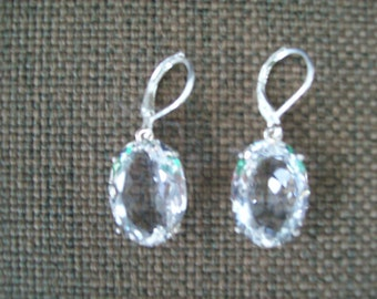 Sterling Silver Earrings - Crystal Quartz