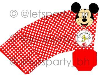 DIY PRINTABLE Mickey Mouse Popcorn Box