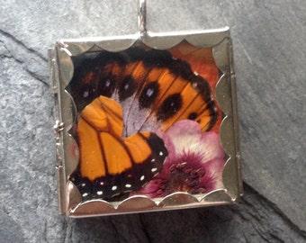 Butterfly & Botanical Pendant