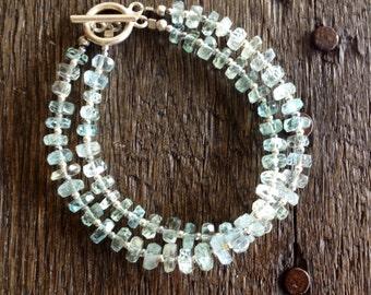 Faceted Aquamarine Bracelet