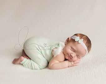 Softest Striped Newborn Romper