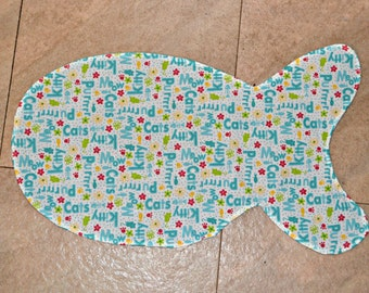 KITTY DISH MAT for Food Dishes Kitchen Pet Mat Kitty Cat Dish Holder