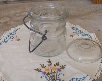 Vintage Clear Ball Glass Canning Jar