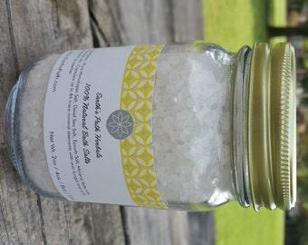 Sandalwood Dead Sea Salt. Dead Sea Salts Made with Essential Oils. 8oz or 16oz jar of Bath Salts