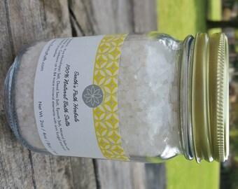 Dead Sea Salt. Aloe and Spring Cotton. Dead Sea Salts Made with Essential Oils. 8oz or 16oz jar of Bath Salts