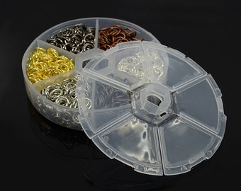 Iron Jump Rings, Closed but Unsoldered * 8mm * Iron * Mixed Colors * 900 pieces * Bead Box Set Kit 031
