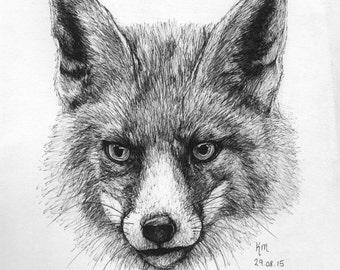 Fox (A4) Original Art