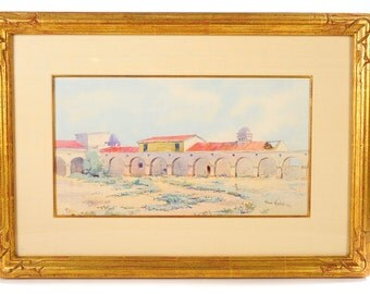 "Elmer Wachtel ""View of San Juan Capistrano"" Original Painting"