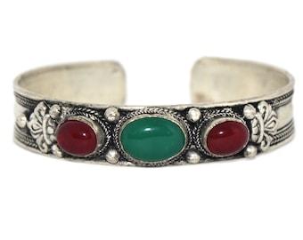 Jade Bracelet Quartz  bracelet Nepal bracelet Tibetan bracelet Nepalese Bracelet Tibet Bracelet Boho bracelet gypsy bracelet hippie BB48