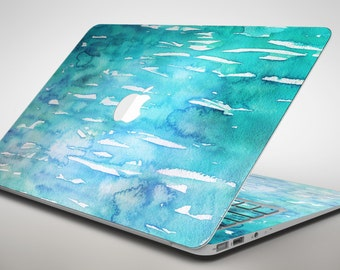 Splattered Blue 453 - Apple MacBook Air or Pro Skin Decal Kit (All Versions Available)