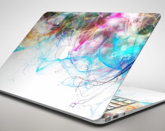 Neon Multi-Colored Paint in Water - Apple MacBook Air or Pro Skin Decal Kit (All Versions Available)