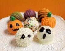 Halloween Chocolate Covered Cake Balls – 1 Dozen