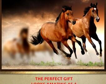 Galloping Horses poster print wall art decor