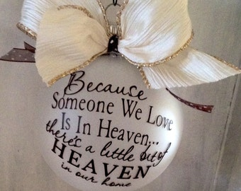 Heaven ornament,Remembrance ornament, Loved one in Heaven, Memory ornament, Ornament Heaven,