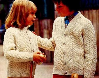 DIY Fisherman Cable Cardigans PDF Vintage Knitting Patterns