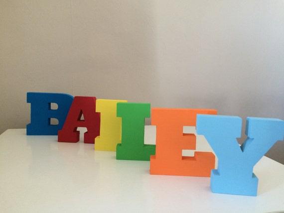 Wooden 3.5 inch freestanding letter names
