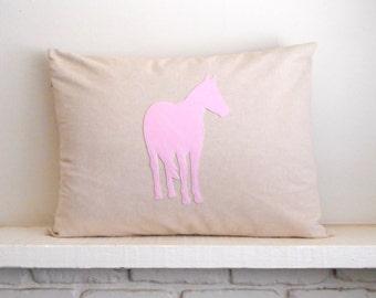 Horse Pillow Sham - Cover / 20 x 26 / horse pillowcase - equestrian pillow - pony pillow - gift for horse lover - horse decor