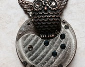 Steampunk necklace- Steampunk Boku owl pocket watch Handcrafted artistic jewelry -The Victorian Magpie