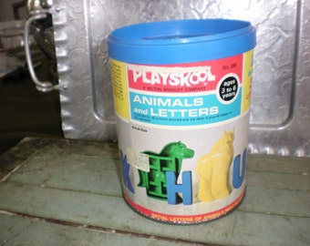Vintage Playskool Animals and Letters