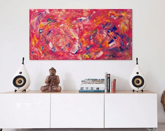 51 - original abstract painting (acrylic on canvas) wall art interior design homedecor